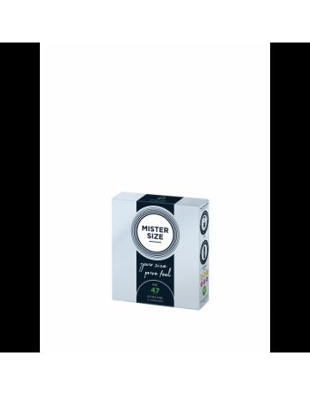 Boîte de 3 préservatifs Mister Size - 7 tailles disponibles