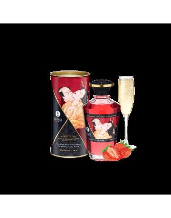 Huile chauffante aphrodisiaque - Vin pétillant à la fraise 100ml