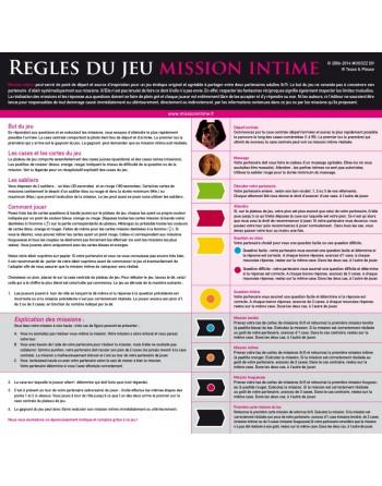 Jeu Mission Intime - Classic